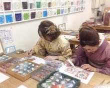 手作りアクセサリー 清水坂ガラス館